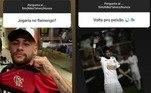 Neymar: respondeu às perguntas de seguidores nos stories do Instagram. Quando questionado sobre um possível retorno ao Santos, ele respondeu com talvez. Da mesma forma, respondeu sobre jogar no Flamengo, criando expectativas na torcida Rubro-Negra.