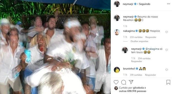 Foto postada por Neymar é de difícil entendimento para os fãs