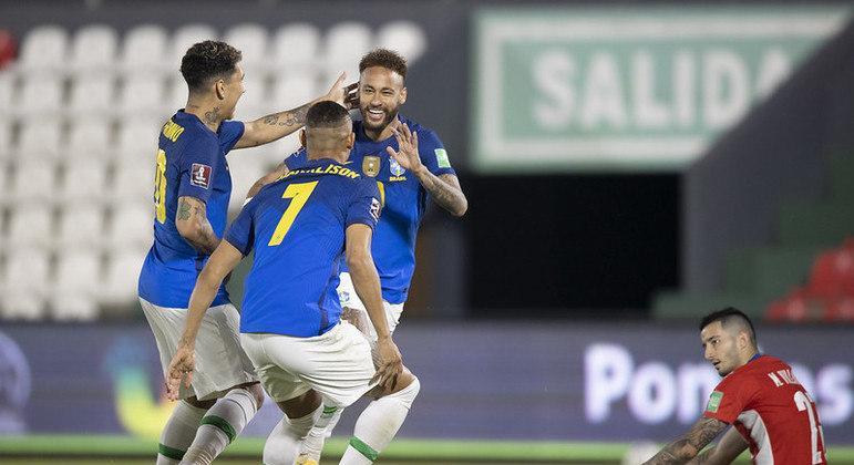 Neymar fez o gol que garantiu mais uma vitória do Brasil nas Eliminatórias