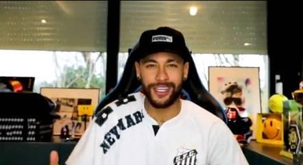 Neymar garantiu que estará na torcida pelo Santos
