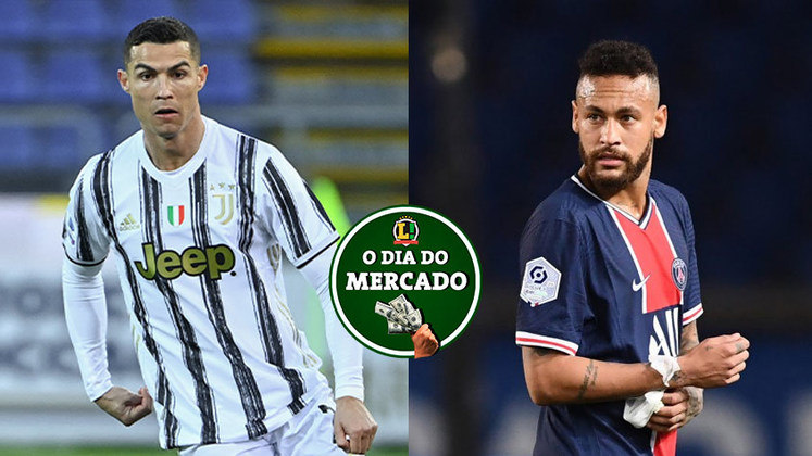 Neymar se aproxima cada vez mais de um acerto com o PSG, diretor da Juventus crava sobre futuro de Cristiano Ronaldo. Tudo isso e muito mais no Dia do Mercado de segunda-feira.