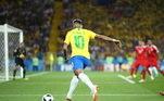 Com a camisa da seleção brasileira, o atacante é o terceiro maior artilheiro da seleção brasileira, atrás apenas de nomes como Ronaldo e Pelé