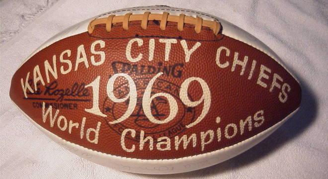 Lembrança do título dos Chiefs, em 1969