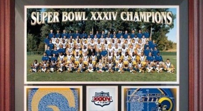 Lembrança do título dos Rams, em 1999