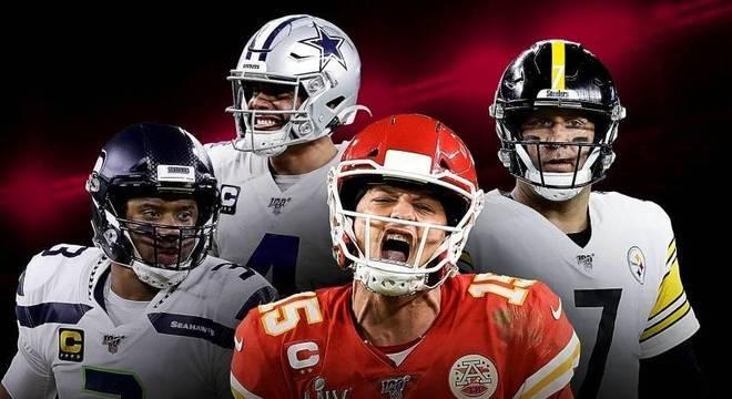 Cartazete de apresentação da temporada de 2020 da NFL