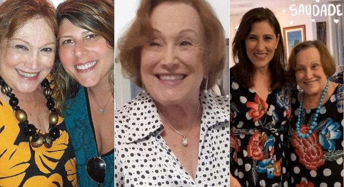 Nicette com a neta Vanessa e com a filha Beth. Atriz recebeu homenagens