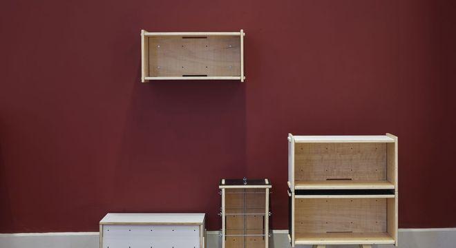 nichos de madeira de caixote