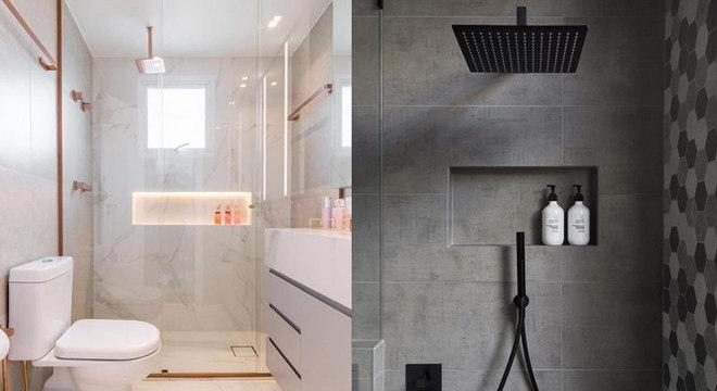 Nichos embutidos no banheiro: use a decoração para ajudar a organizar