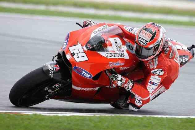 Nicky Hayden e seu tradicional #69 na Ducati