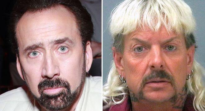 Cage e Joe Exotic têm até uma certa semelhança física, né?