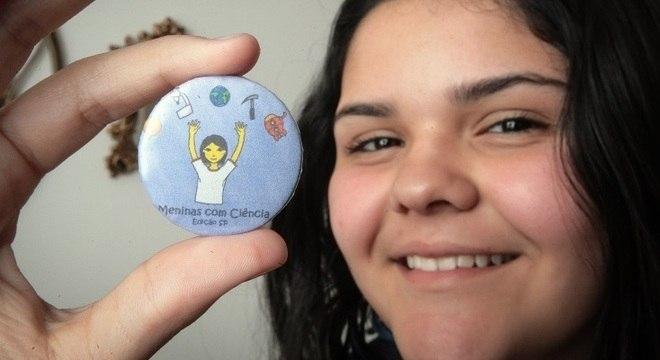 Nicóle, 13, sonha em ser cientista e participou do evento no ano passado