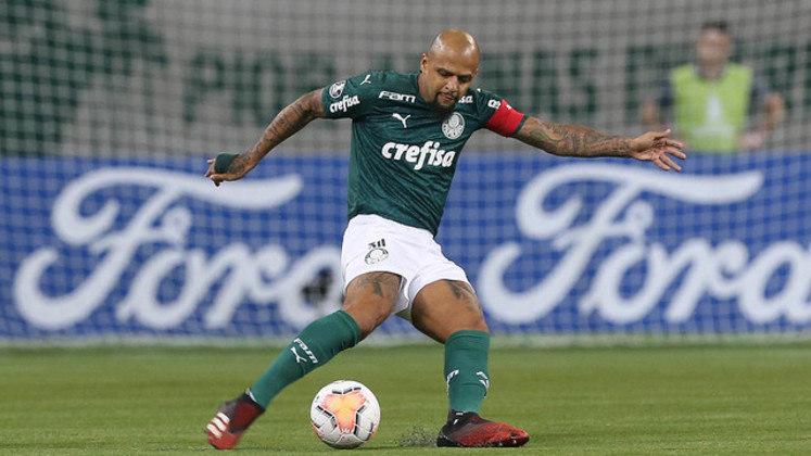 Ninguém defende tanto uma camisa quanto o volante Felipe Melo. O experiente jogador do Palmeiras exala liderança.