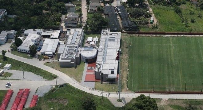 Centro de treinamento do Ninho do Urubu, na Zona Oeste do Rio