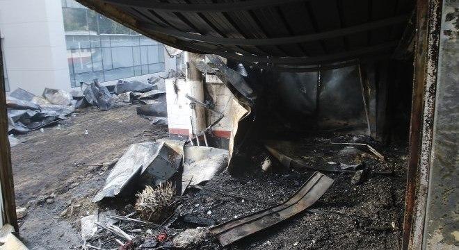 CT Ninho do Urubu após incêndio que matou dez jovens jogadores