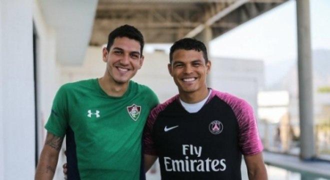 Nino e Thiago Silva