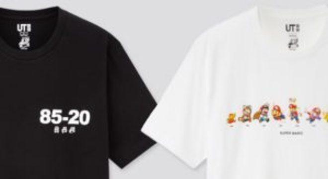 Nintendo e Uniqlo lançam camisetas dos 35 anos de Mario nos EUA