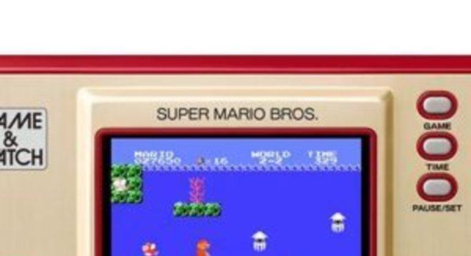 Nintendo lançará novo Game & Watch com Mario do NES em novembro