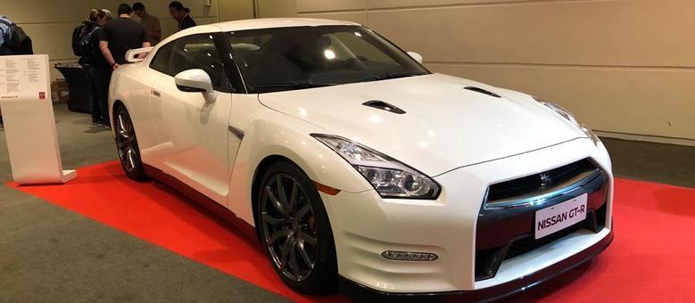 Nissan GT-R no estande da Nissan no Salão Die Cast