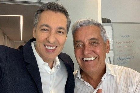 Nivaldo Prieto com Mauro Naves. Os dois continuam nos canais da Disney.