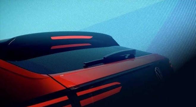 Em outra imagem divulgada pela VW é possível perceber a carroceria cupê do Nivus
