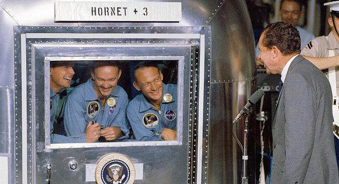 Felizmente, Nixon não teve de pronunciar o discurso preparado para se Aldrin e Armstrong ficassem presos na Lua