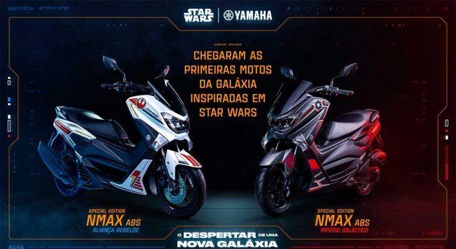 Chamada comercial da série Star Wars nas duas opções de cores