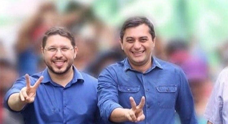 No AM, vice Almeida Filho (E) nem fala mais com governador Wilson Lima (D)