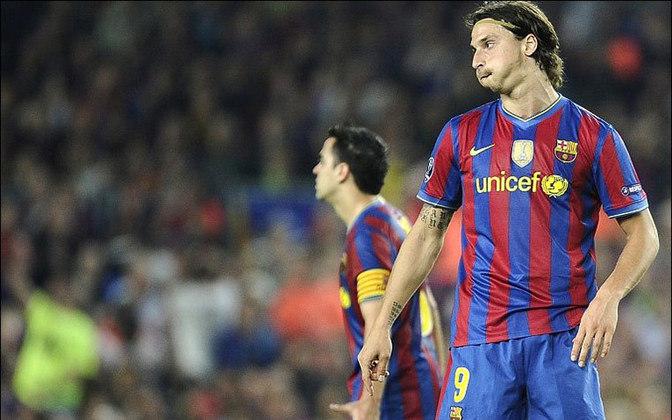 No Barcelona, Ibrahimovic não deixou de ser falastrão e soltou o verbo, principalmente contra Pep Guardiola, seu treinador na época.