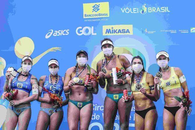 No Brasil, a etapa do Circuito Mundial de Vôlei de Praia, em meio de setembro, também contou apenas com atletas, comissões, organização e equipe para garantir as transmissões – nas arquibancadas, telões com torcedores