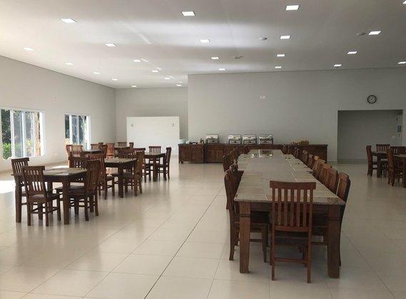 No complexo utilizado pelo Red Bull Bragantino para treinamentos também há um refeitório.