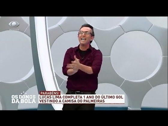 No dia 1º de outubro de 2019, o jogador Lucas Lima completou um ano sem marcar gols, e Neto não perdoou: cantou parabéns para o jogador ao vivo, no Donos da Bola.