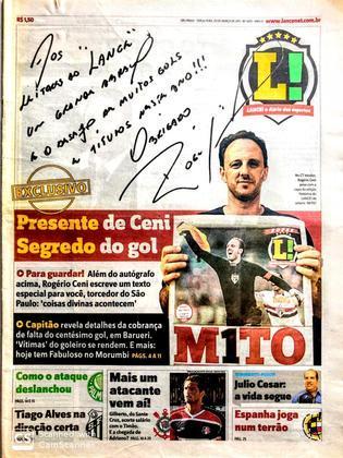 No dia seguinte, 28 de março de 2011, uma edição especial do jornal trouxe na  capa um autógrafo de Rogério Ceni. A reportagem levou a capa histórica do dia anterior ao goleiro.