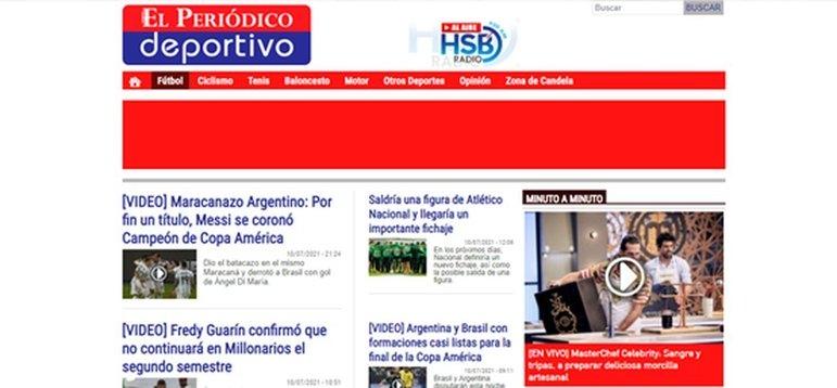 No El Periodico Deportivo, a manchete foi sobre a enfim quebra do jejum de títulos de Messi defendendo o seu país, além de também colocar o Maracanazo em destaque.