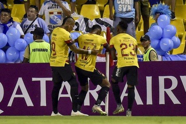 No Equador, há uma data prevista para retorno, no dia 15 de agosto. No entanto, a entidade deixou claro que, caso haja qualquer problema, será cancelado. Na foto, o Barcelona de Guayaquil.