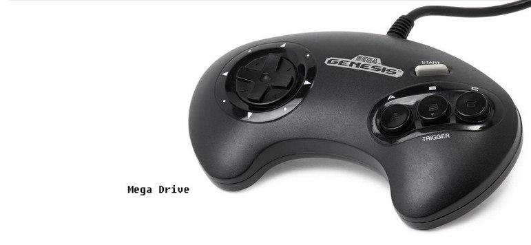 No final dos anos 1980, a Sega lançou o Mega Drive. Pela primeira vez os controles passaram a ter três botões, inspirados nos games de fliperamas.