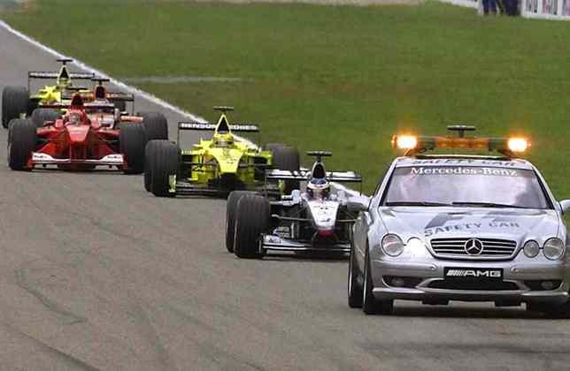 No GP da Alemanha de 2000, primeira vitória de Rubens Barrichello, o safety-car esteve presente