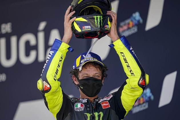 No GP da Andaluzia, Valentino Rossi conseguiu o primeiro pódio desde o GP das Américas de 2019