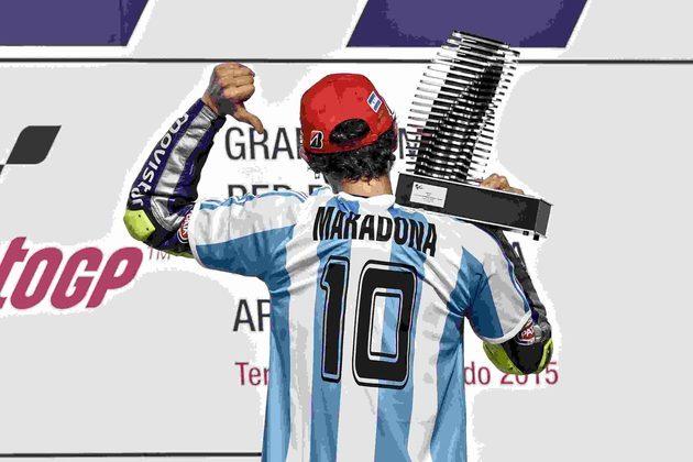 No GP da Argentina de 2015, Rossi tratou de homenagear do 10 da Argentina