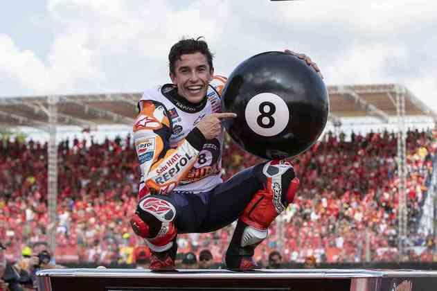 No GP da Tailândia de 2019, Marc Márquez se tornou o piloto mais jovem a conseguir seis títulos na MotoGP