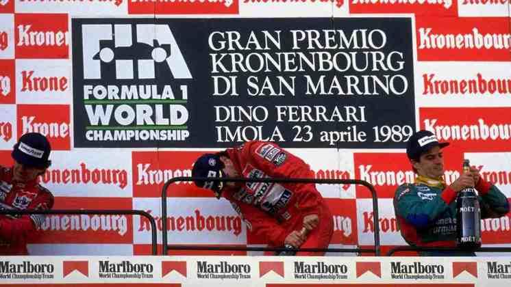 No GP de San Marino de 1989, Ayrton Senna, Alain Prost e Alessandro Nannini não conseguiram abrir as garrafas de champanhe.