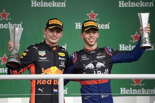 No GP do Brasil de 2019, a Honda conseguiu uma dobradinha: vitória de Max Verstappen, da Red Bull, e segundo lugar com Pierre Gasly, da AlphaTauri