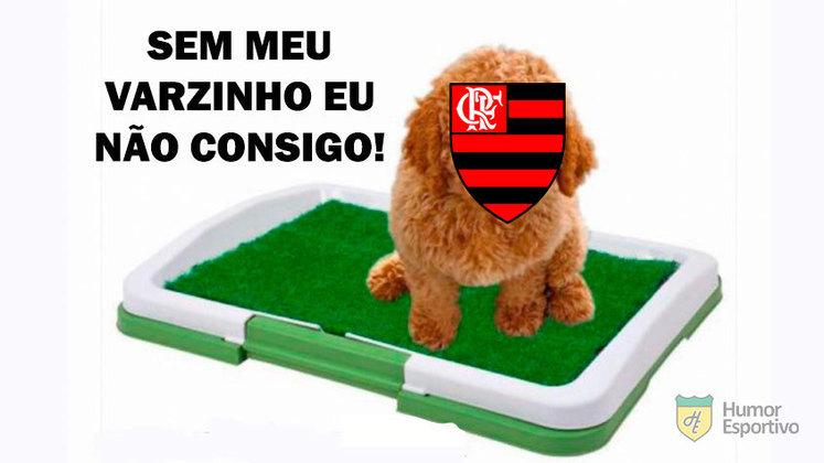No jogo das 11h deste domingo, o Flamengo começou atrás no placar, mas conseguiu o empate nos acréscimos do segundo tempo, em pênalti convertido por Gabigol, após revisão do lance no VAR. Na redes sociais, os rivais ironizaram a fase ruim do time comandado por Domènec Torrent. Veja os memes na galeria!