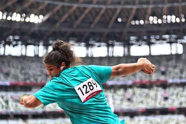 No lançamento de disco, a brasileira Izabela Rodrigues conseguiu uma vaga na final e disputará medalha em Tóquio.