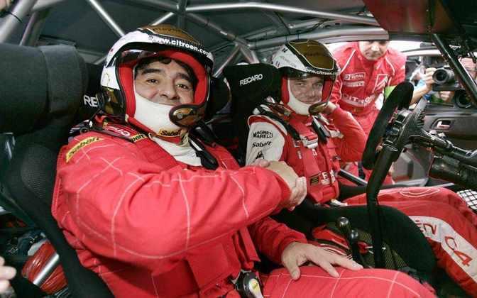 No Rali da Argentina de 2008, subiu no carro da Citrôen junto de Sébastien Loeb