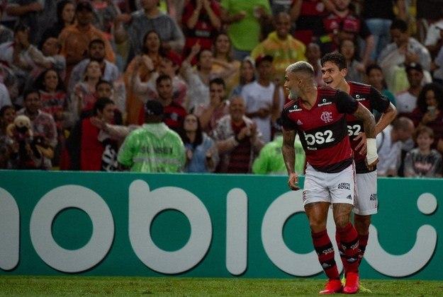 No último domingo, Gabigol marcou dois gols na vitória (4 a 1) sobre o Santos, pela 25ª rodada do Brasileiro, e empatou  com Pedro na artilharia do Flamengo na temporada. Ambos passam a ter 20 gols. Veja números de todos os marcadores do clube em 2020 a seguir.