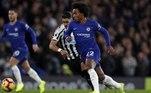 No último jogo do Chelsea pela Liga dos Campeões, Willian completou 300 jogos pelo time inglês. O atacante está desde 2015 e mostra mais experiência. Com isso, o LANCE! preparou uma lista com os brasileiros que mais atuaram nos principais clubes europeus. Veja abaixo.
