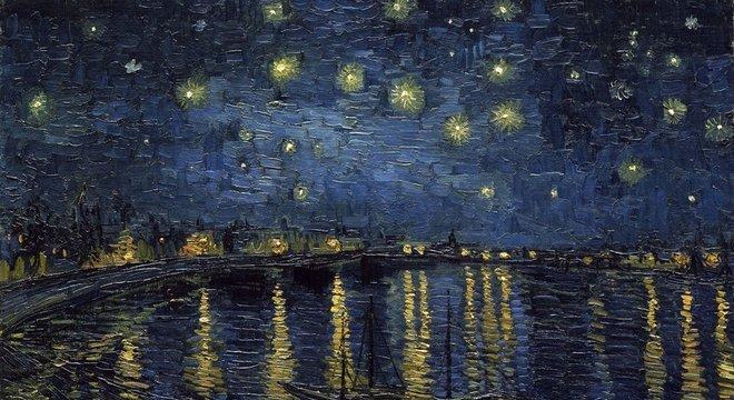 As noites estreladas no campo foram um tema frequente para o artista