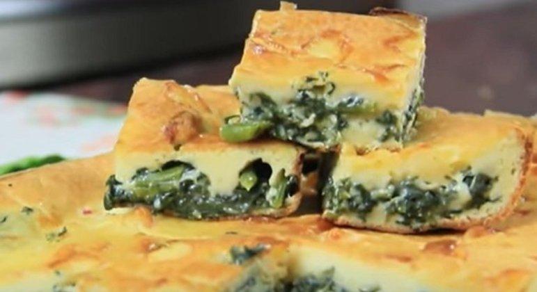 Nome da massa: Torta de espinafre