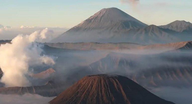 Nome do vulcão: Bromo, na Indonésia