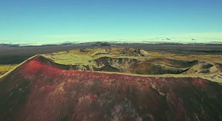 Nome do vulcão: Thrihnukagigur, na Islândia